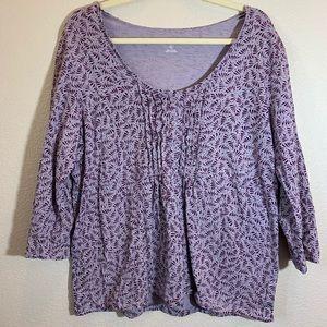 EDDIE BAUER • EUC purple blouse